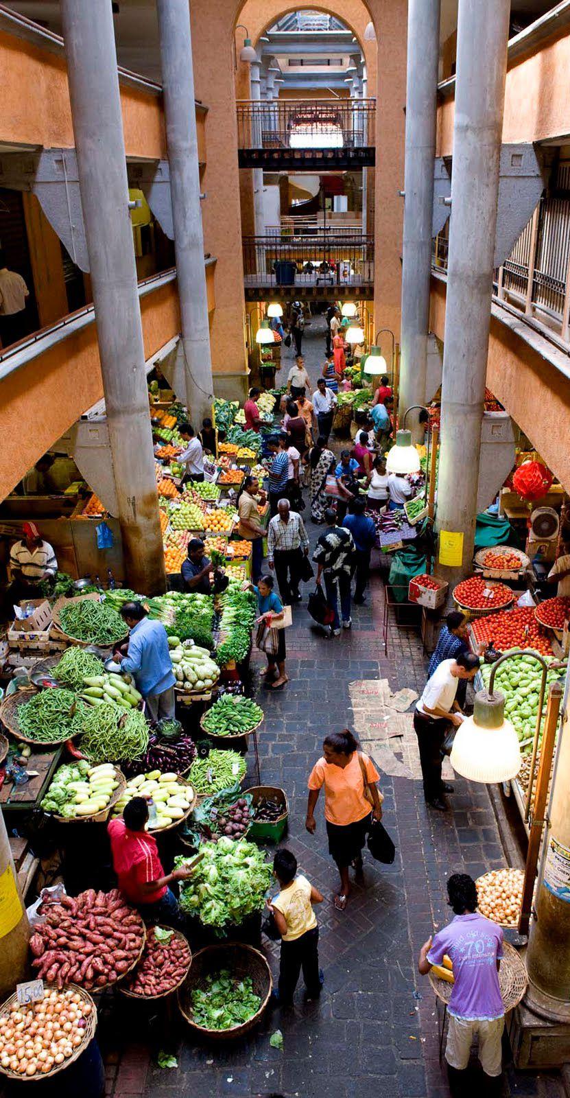le marché de port - louis à l'île maurice. idéal pour connaitre la