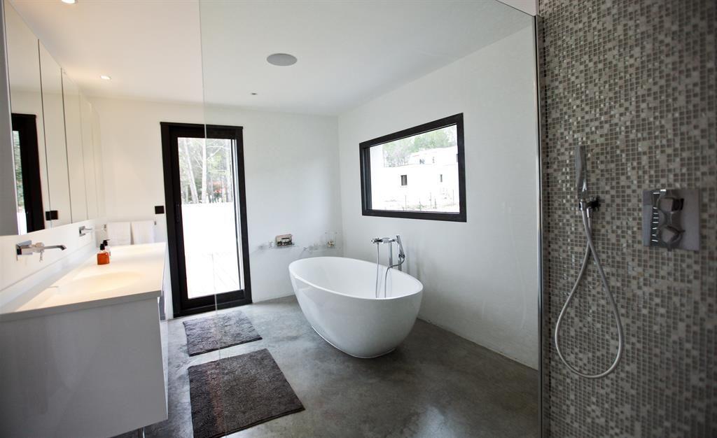 awesome salle de bain beton blanc gallery - amazing house design ... - Salle De Bain Beton Cire Blanc