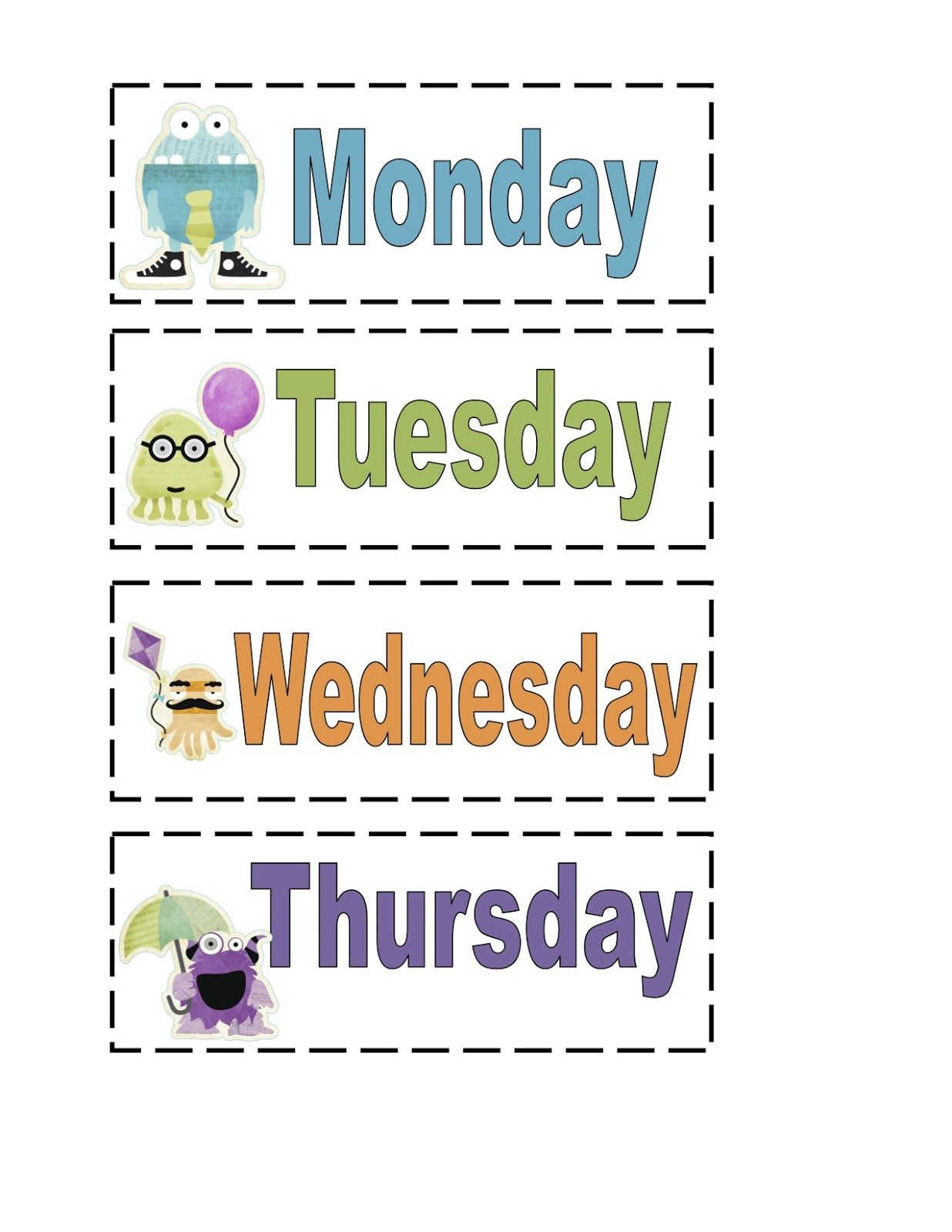 Preschool Printables Monster Friendly Printable