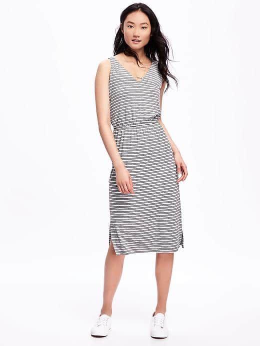 89d59275afd Striped Tie-Belt Midi Dress for Women