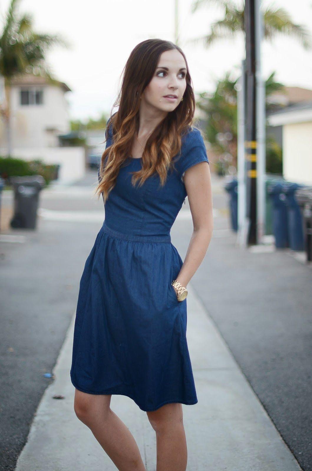 style jean dress zippers