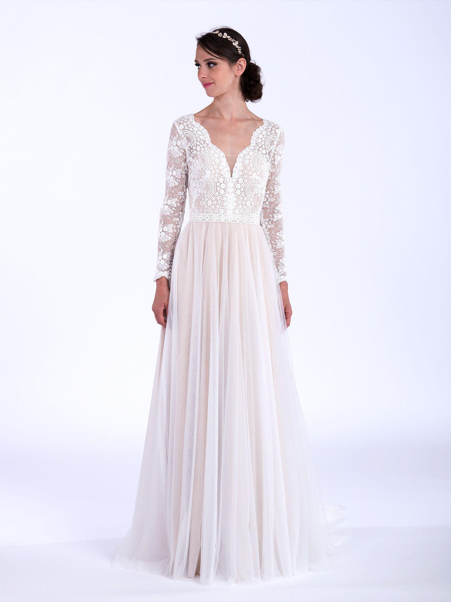 Boho wedding dress with long sleeves 5006 long sleeve