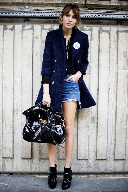 Alexa Chung Proving that denim is still as insouciantly cool as it was when it was first introduced is Alexa Chung.