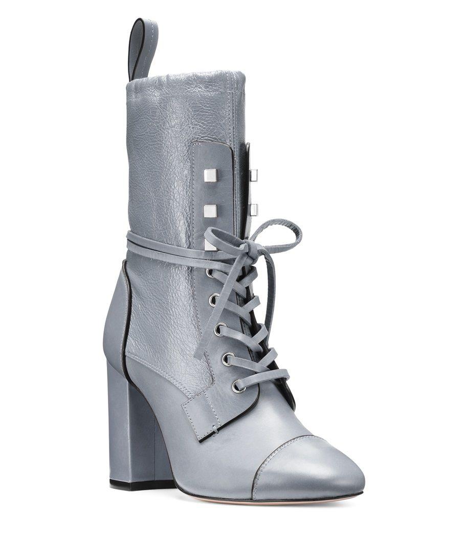 99b48cdf1ba8d2 Stuart Weitzman VERUKA Lace Up Combat Boots, Designer Boots, Stuart  Weitzman, Block Heels