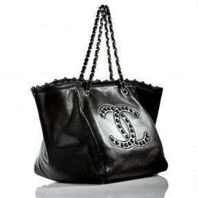 6c29f1582 very good (VG) Chanel Black Lambskin Pearl Obsession Tote Bag, Limited  Edition on shopstyle.com