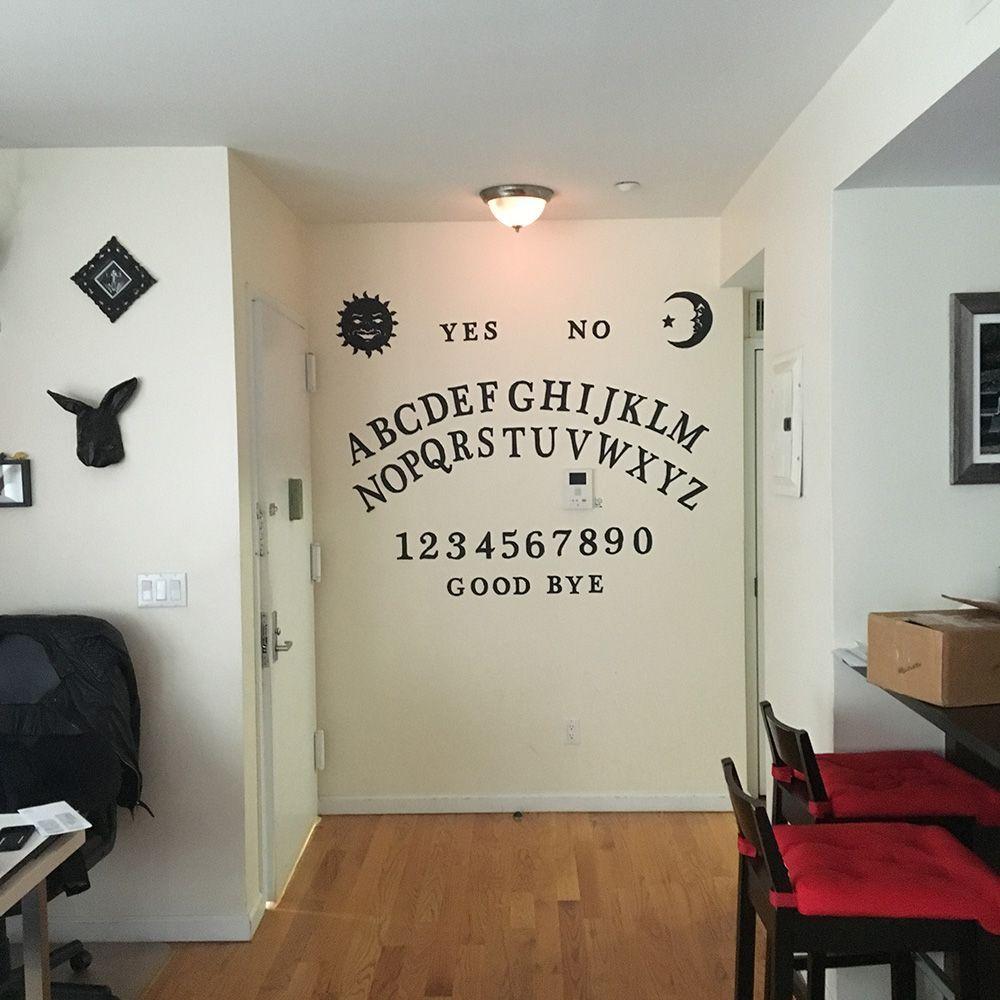Homemade ouija board wall decoration | Halloween Decorating ...