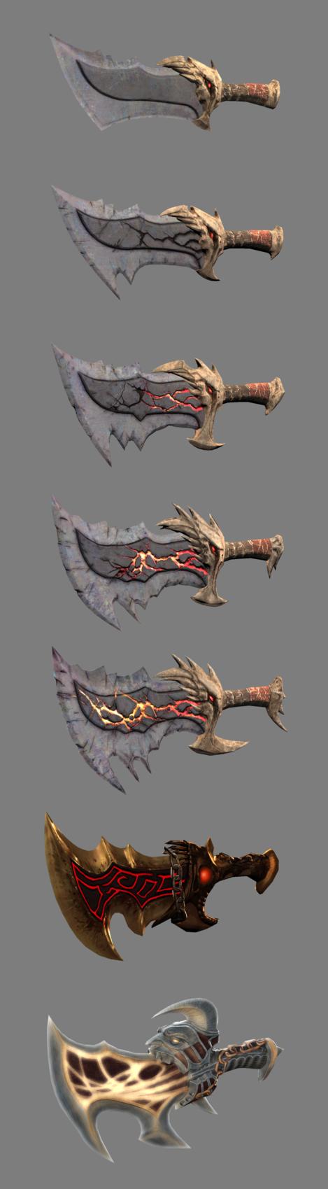 God of war blades 3d models by hacker7utd on deviantart for Deviantart 3d models