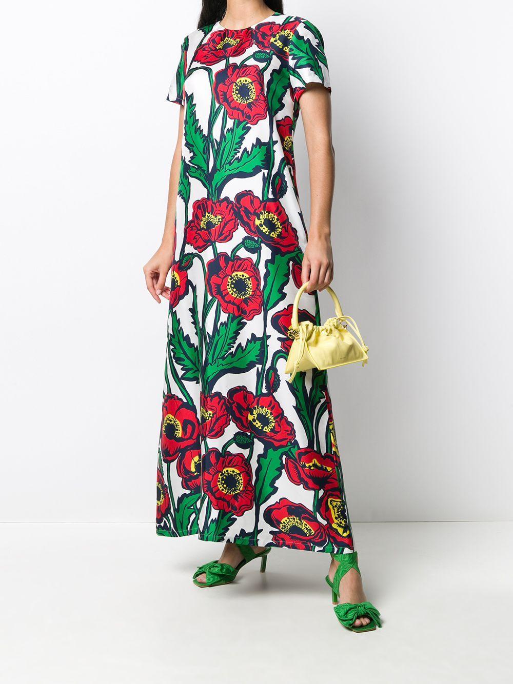 La Doublej Swing Big Blooms Print Dress Farfetch In 2020 Print Dress Dresses Big Blooms