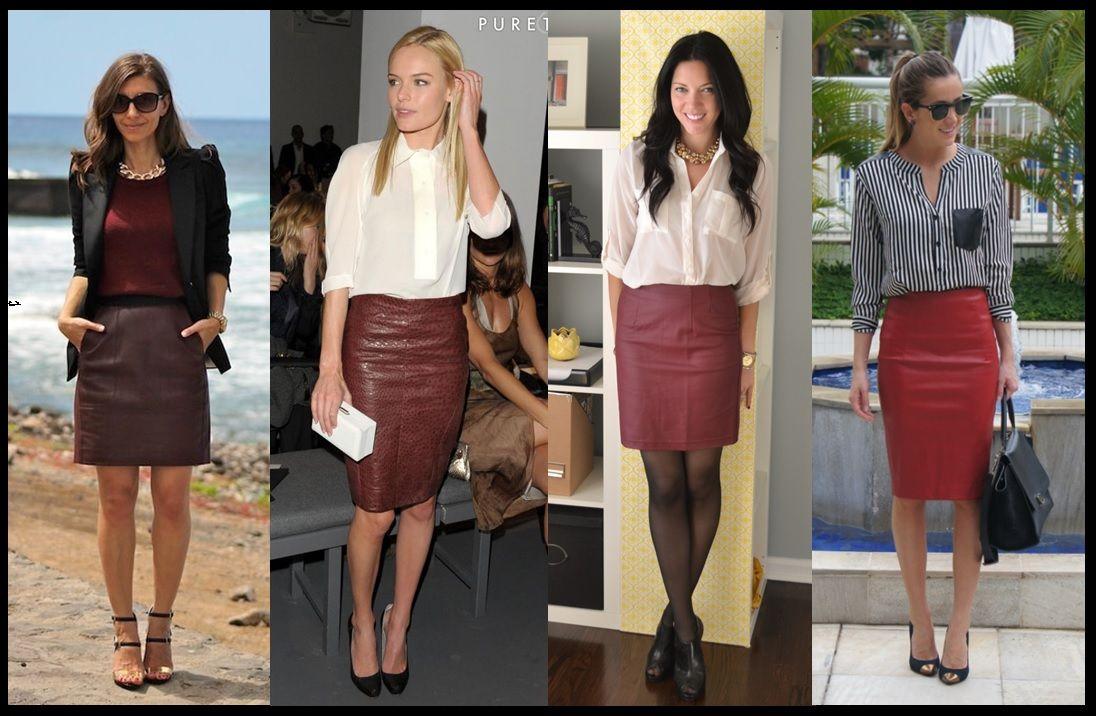 ae3ba8247b 07_Como usar saia de couro_Look para trabalhar_saia de couro vermelha_saia  de couro com camisa