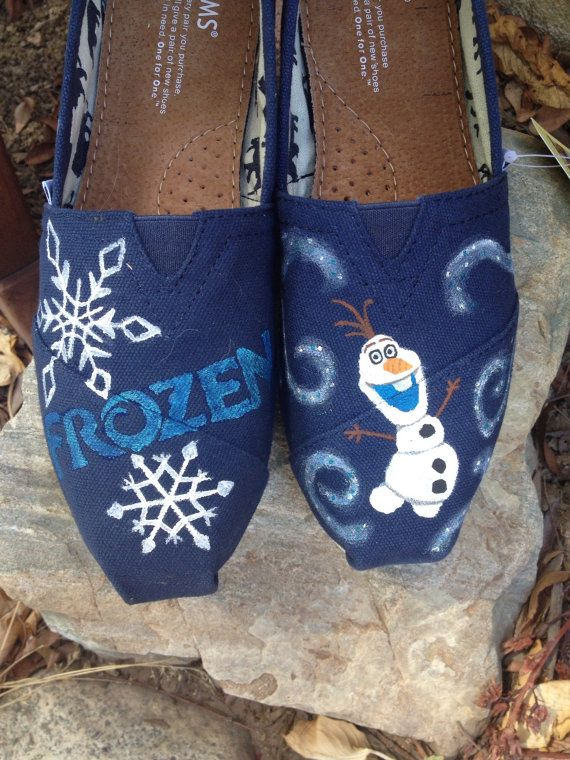 Hand Painted Frozen Toms by MorgsCreations on Etsy