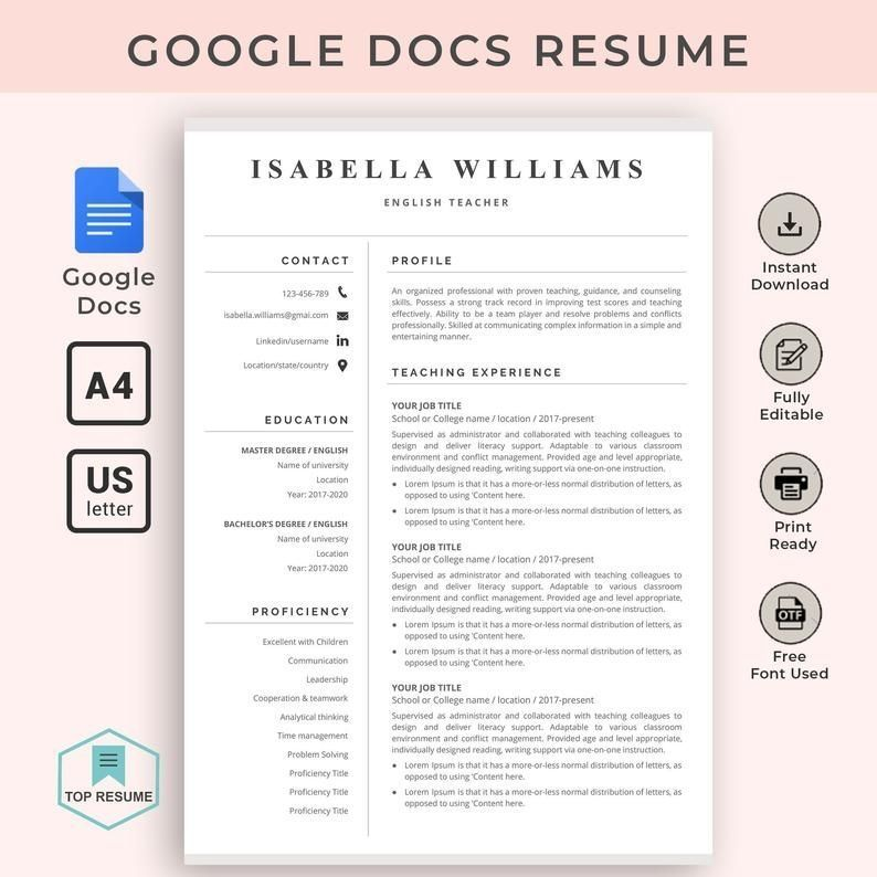 Pin On Creative Small Business Work Life Business Creative Life Pin Small Work In 2020 Teacher Resume Template Cv Template Word Resume Template