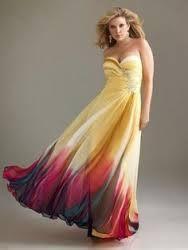 Resultado de imagen para vestidos de gala para gorditas azul