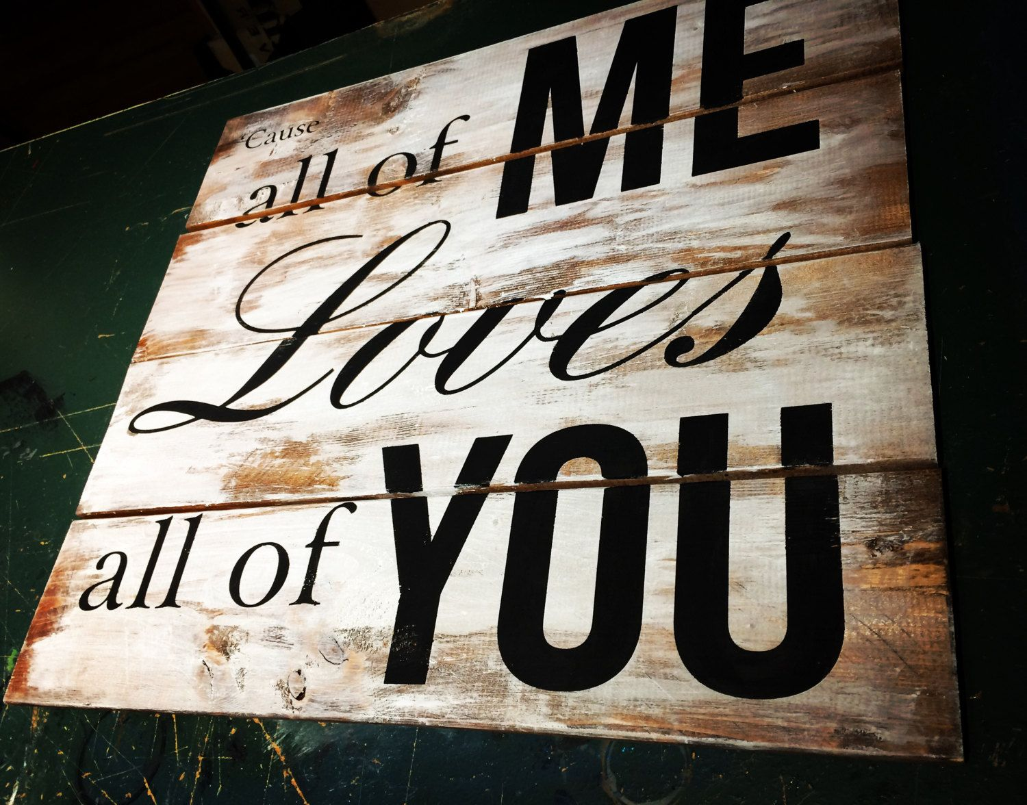 Love Plaques Quotes Magnificent All Of Me Loves All Of You Rustic Wood Pallet Sign  Sign Quotes