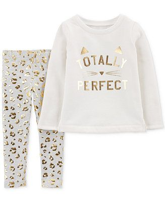 7ee83cfe41085 Carter's Baby Girls 2-Pc. Perfect Top & Printed Leggings Set Kids - Sets &  Outfits - Macy's