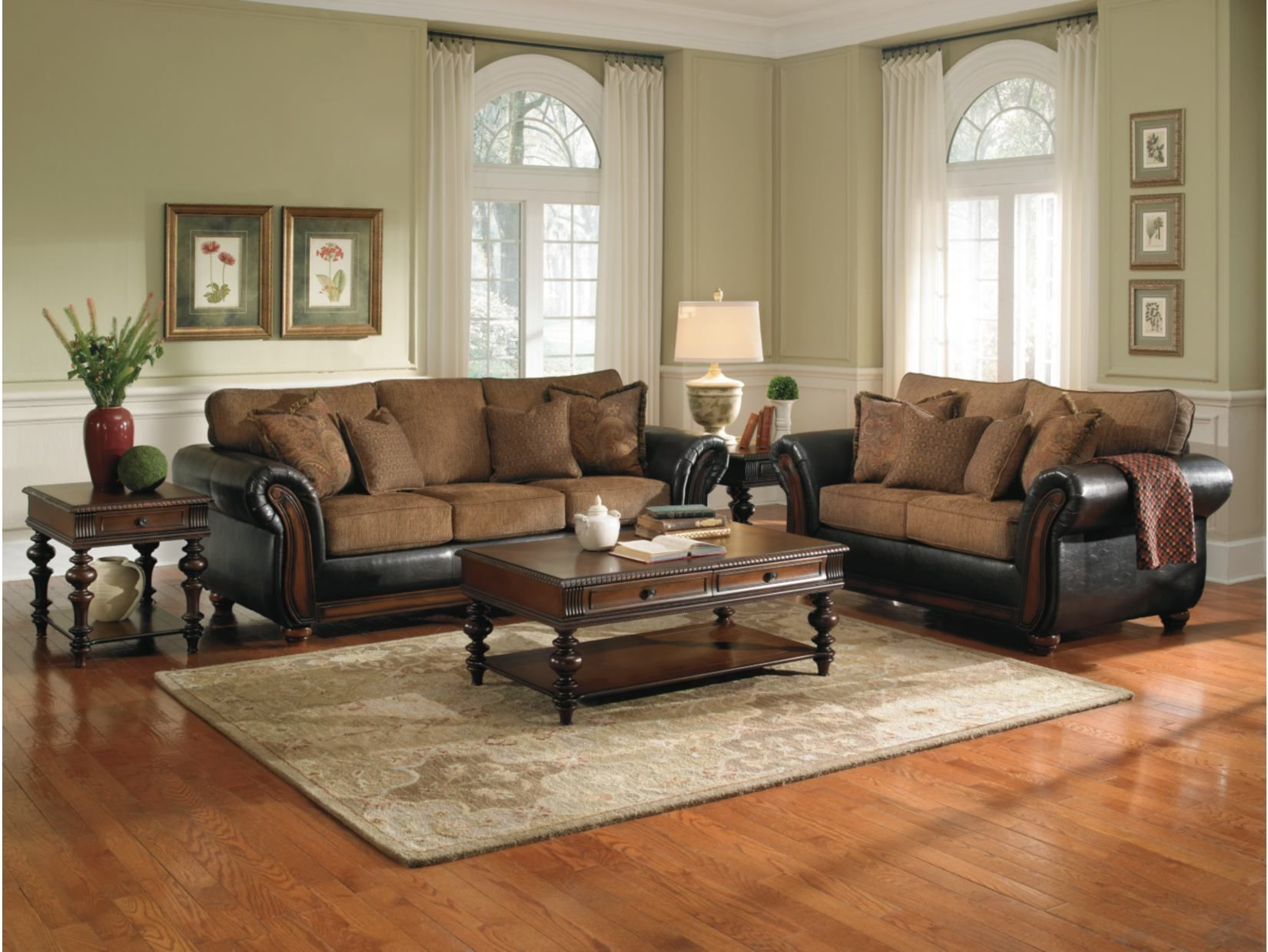 Room Regal Mocha Sofa And Loveseat