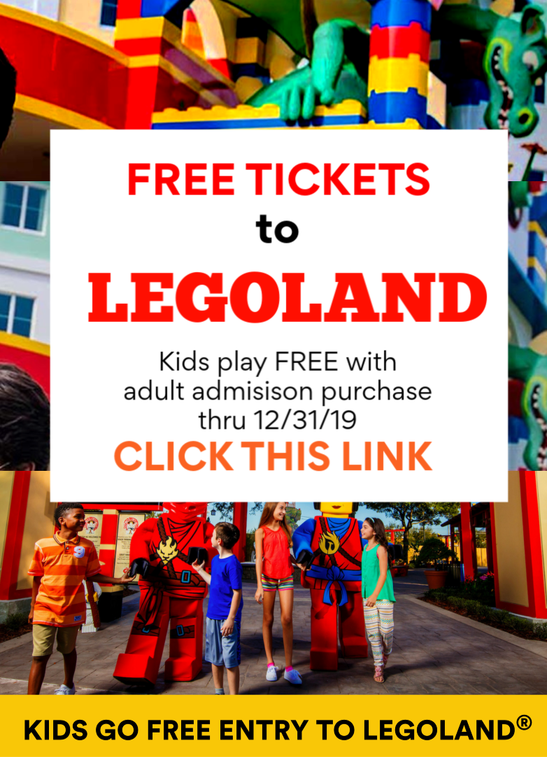 Free Legoland Tickets For Kids With Adult Ticket Purchase