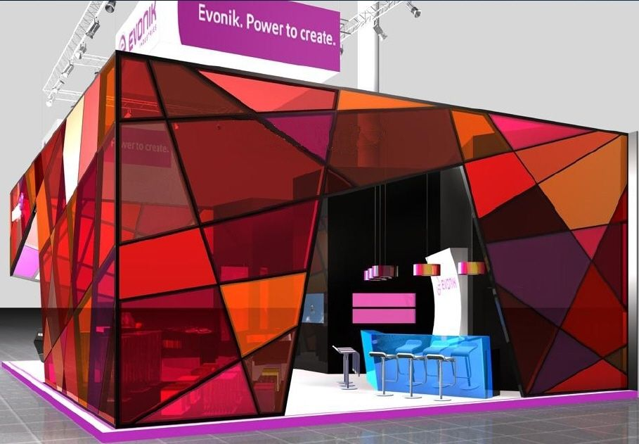 Exhibition Booth Partition : Entire booth structure made from acrylite acrylic
