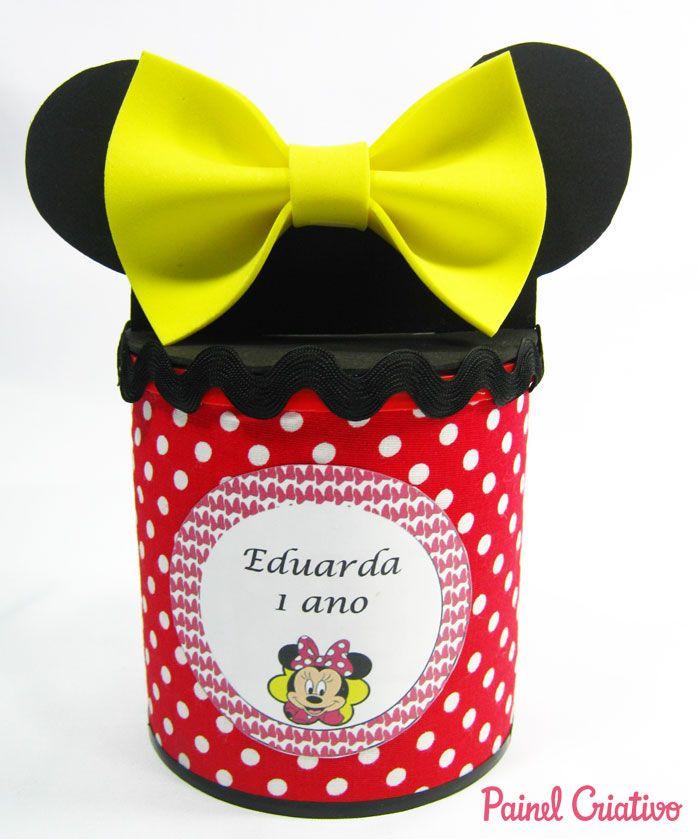 Passo A Passo Lembrancinha Minnie Aniversario Latinha Eva 11