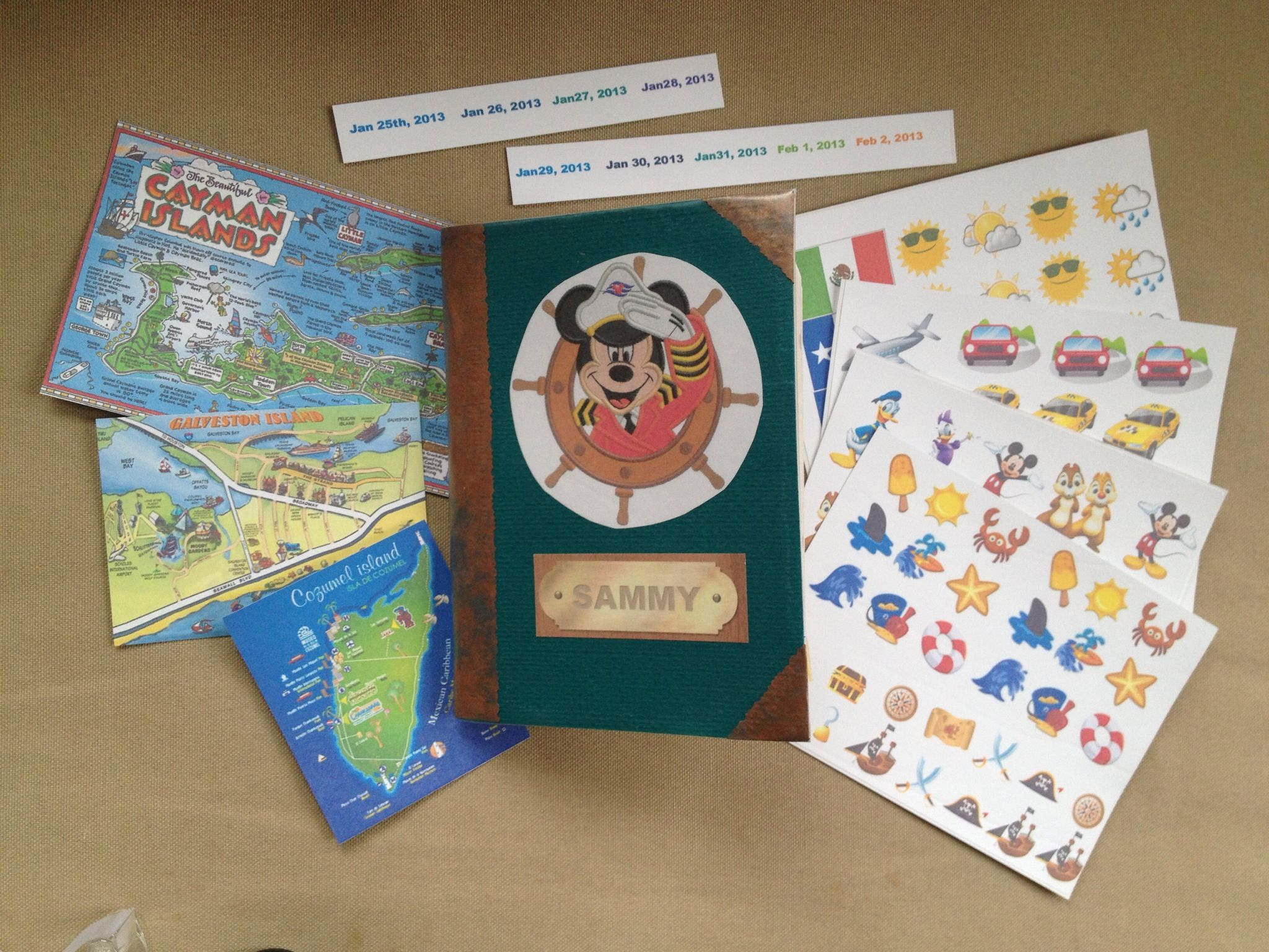 How to scrapbook disney vacation - How To Make A Kids Passport Scrapbook For Vacation