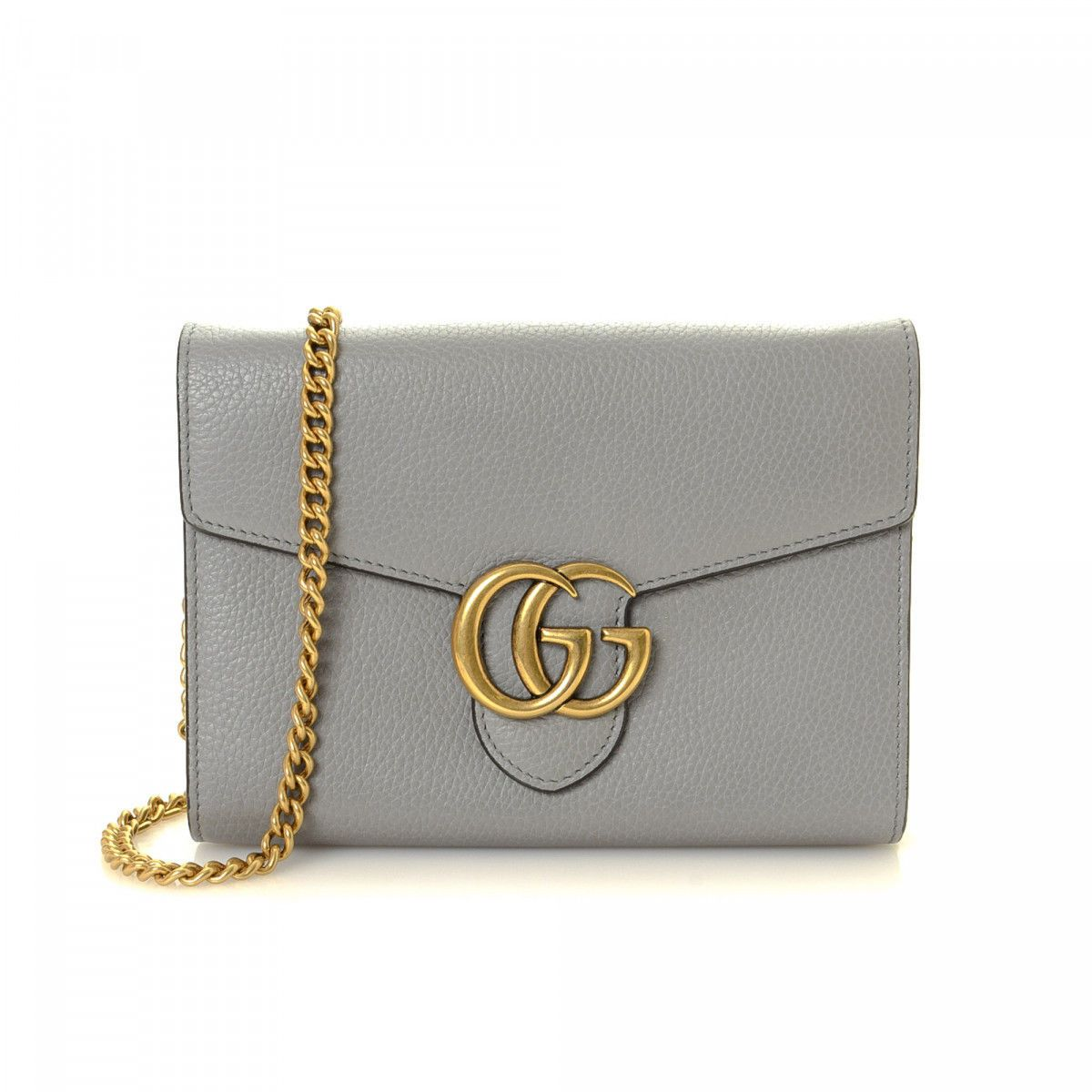 6dea45c1ebf Gucci GG Marmont Chain Wallet Bag Calf - LXRandCo - Pre-Owned Luxury Vintage