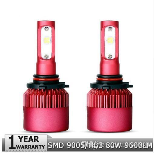 2pcs 9005/HB3 80W SMD Car LED Headlight Bulb All In One