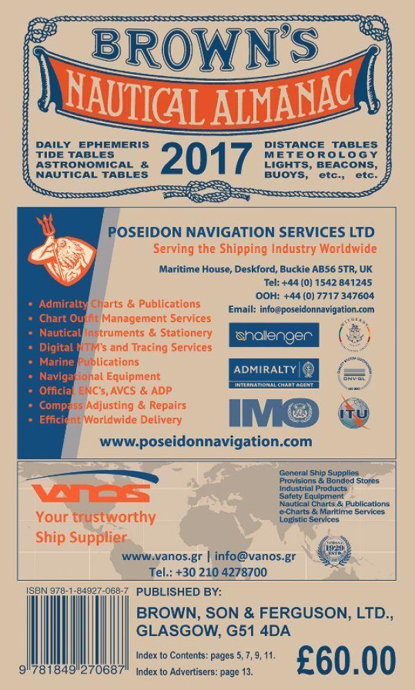 Brown S Nautical Almanac 2017 Edition