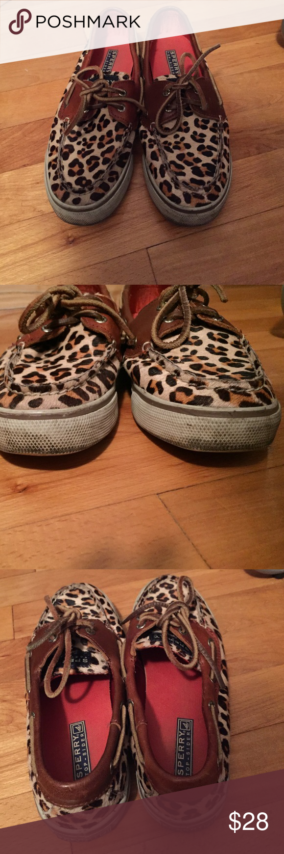 Sperry top siders Cheetah print Sperrys! They are used with scuffs on the soles. Sperry Top-Sider Shoes Flats & Loafers