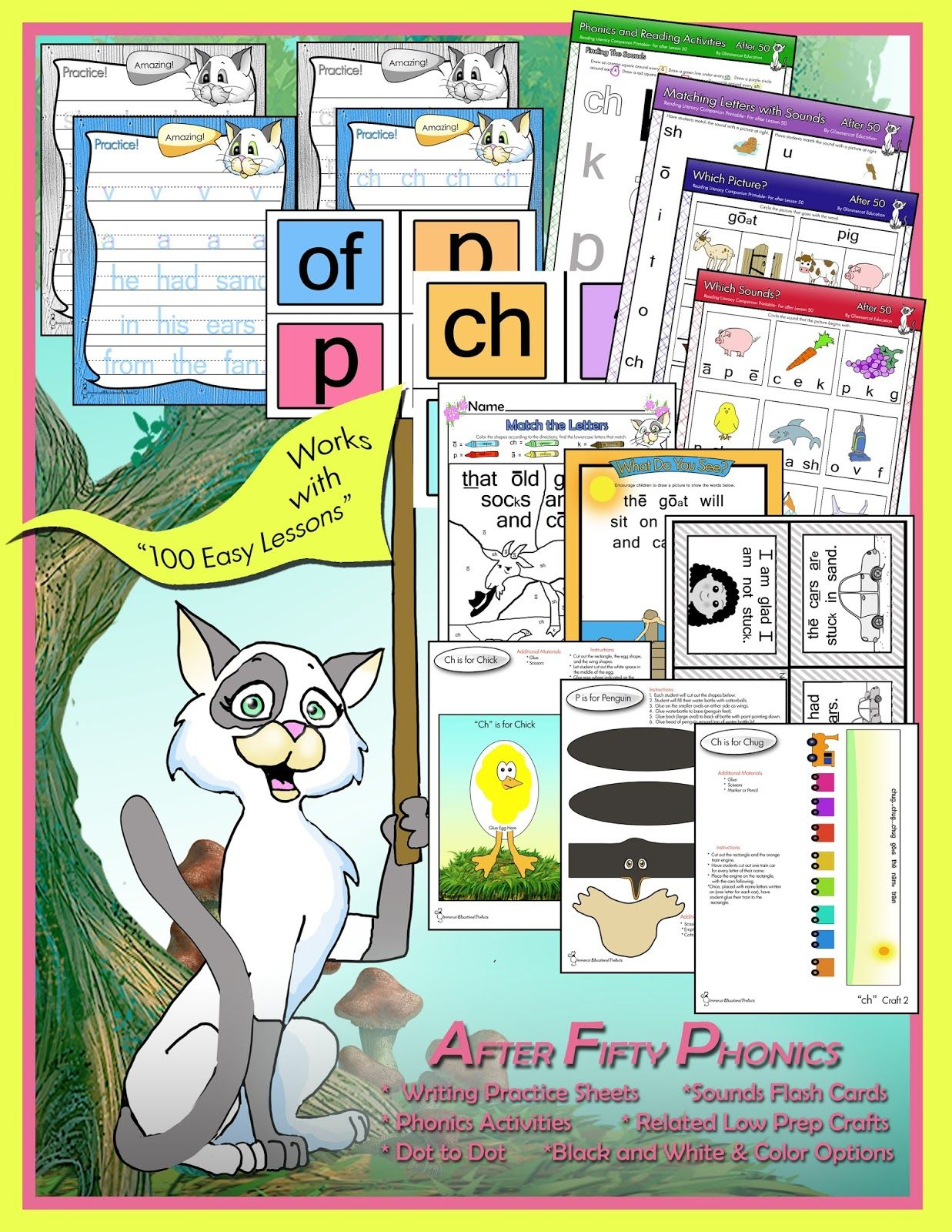 worksheet Teach Your Child To Read In 100 Easy Lessons Worksheets supplemental worksheets and crafts from glimmercat education for offering phonics printables to supplement teach your child read in 100 easy lessons