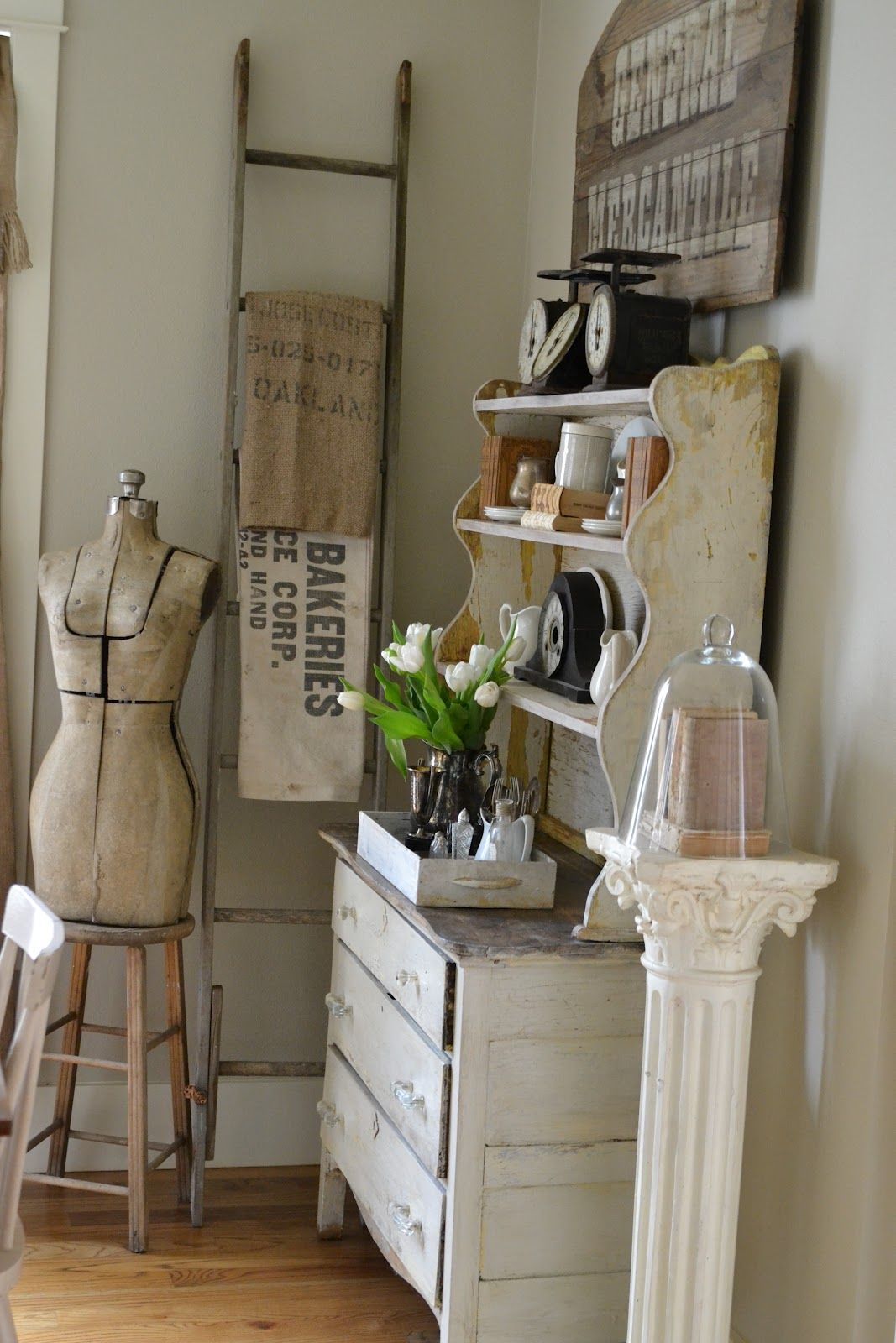 How to decorate with vintage ladders ways to inspire rustic