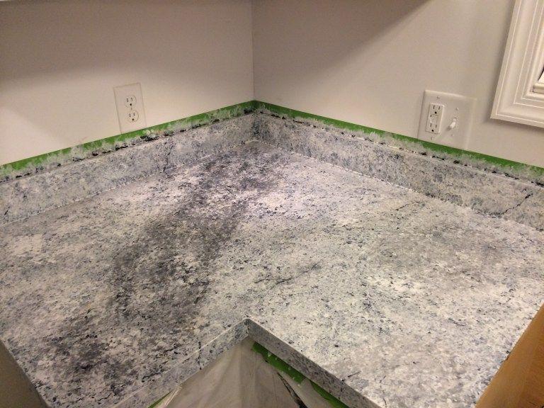Countertop Redo With Giani Granite Countertop Paint Pearls And Sports Bras Painting Countertops Granite