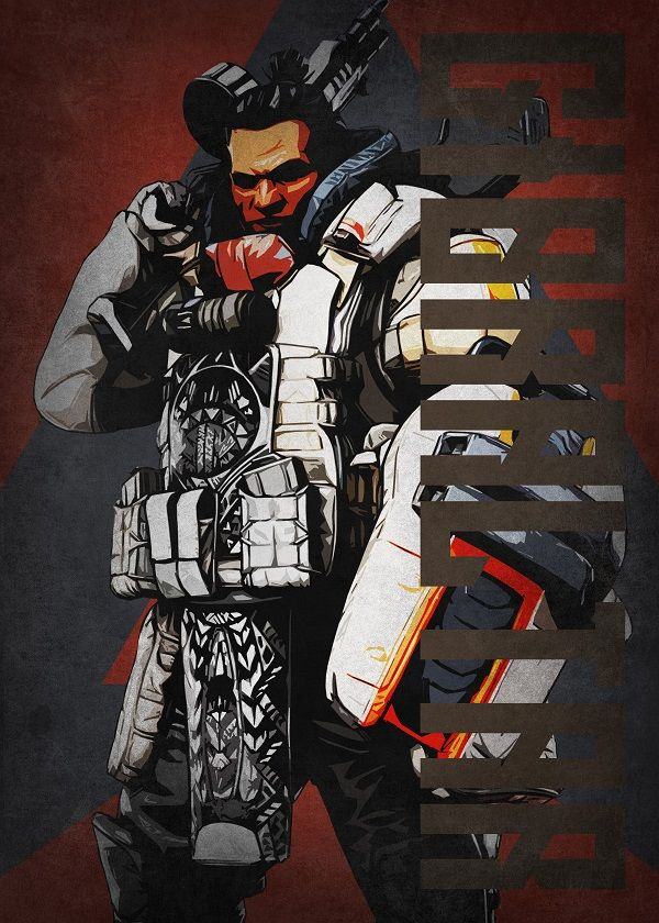 """Apex Legends Colourful Characters Gibraltar #Displate explore Pinterest""""> #Displate artwork by artist """"Beegeedoubleyou"""". Part… 