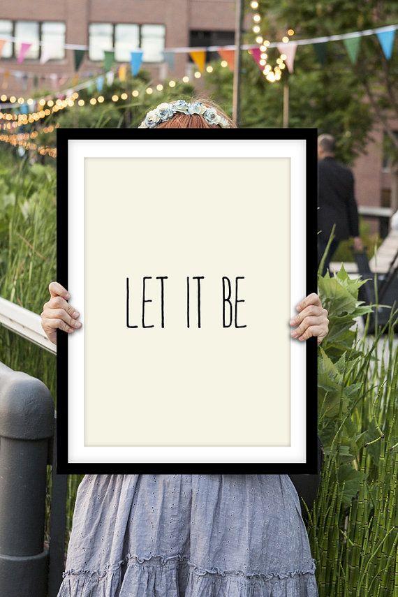 Lyric let it be the beatles lyrics : Inspirational Print