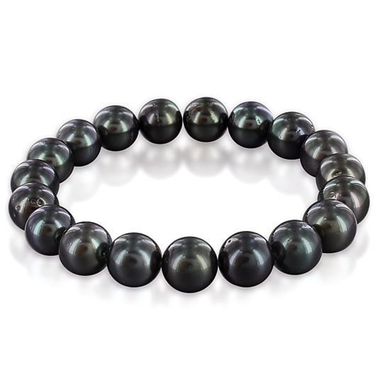 The Darkest Shade Of Pearls Bracelet For Men Udozzo Dark Jewelry Bracelets For Men Tahitian Pearl Bracelet