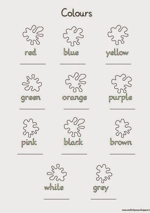 Schreibblatt COLOURS | Ingilizce | Pinterest | English, Worksheets ...