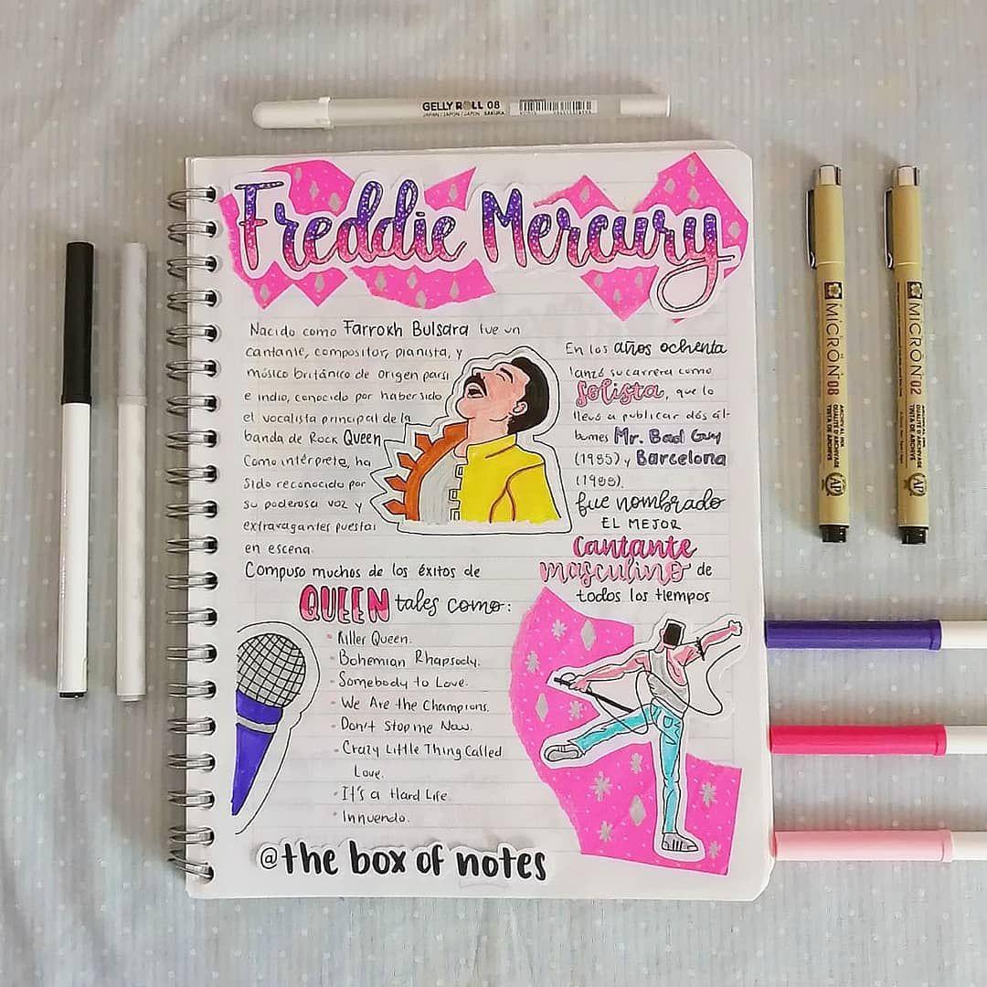 Apunte Bonito De Freddie Mercury Por Theboxofnotes Apuntes Libreta De Apuntes Titulos Bonitos Para Apuntes