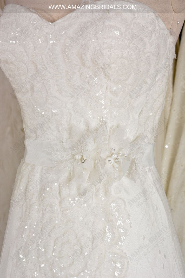 Fairly Tale Strapless Sweetheart Sequins A-line Wedding Dress