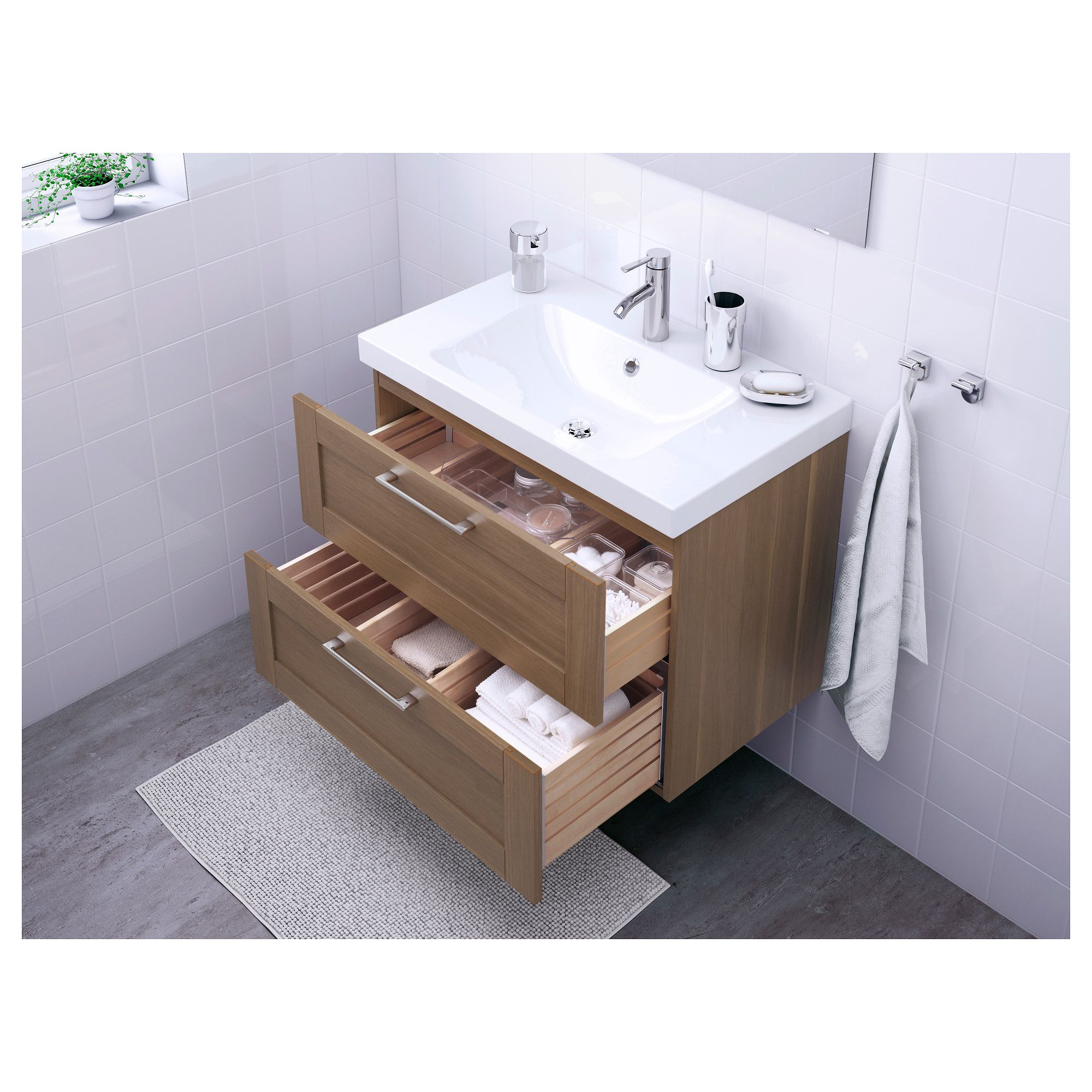 Delicieux IKEA   GODMORGON / ODENSVIK Sink Cabinet With 2 Drawers Walnut Effect