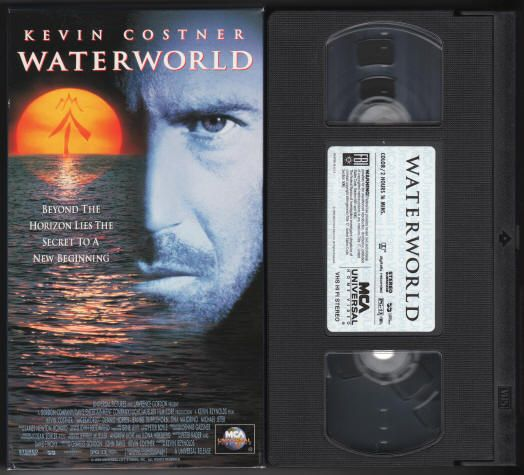 Waterworld 1995 Vhs Videotape Tape Has Been Viewed Once And Is In Excellent Condition Mca Universal Home Video 8241 Kevin Costner When Harry Met Sally Vhs