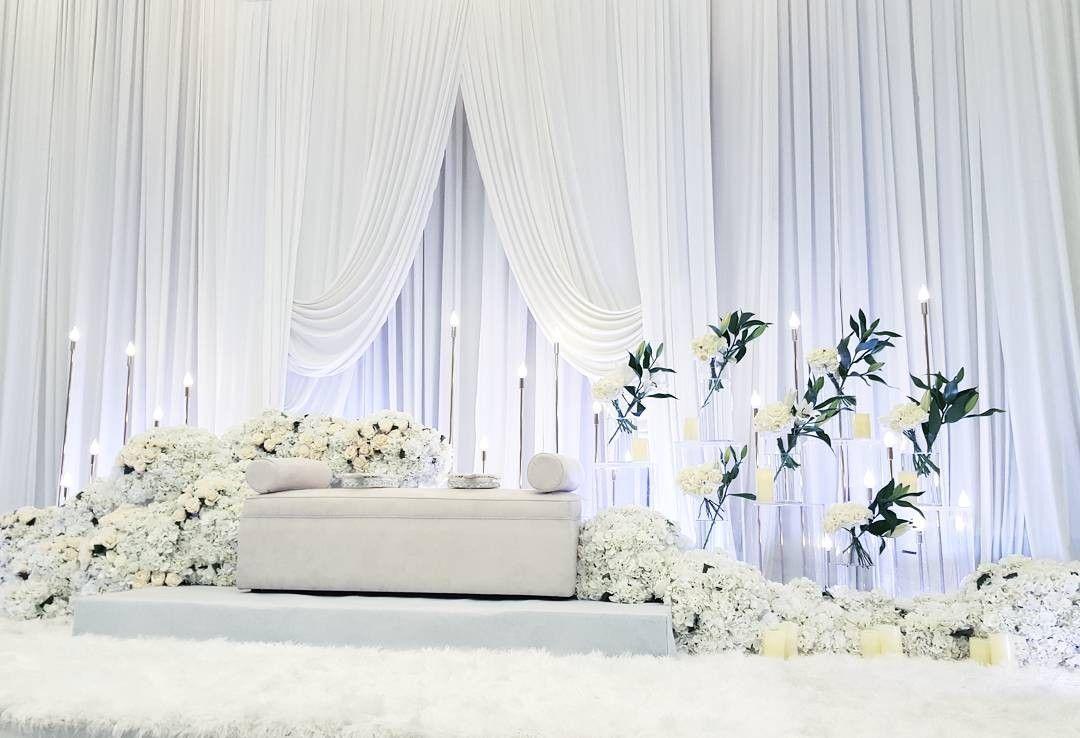 White Wedding Decoration Wedding Reception Backdrop