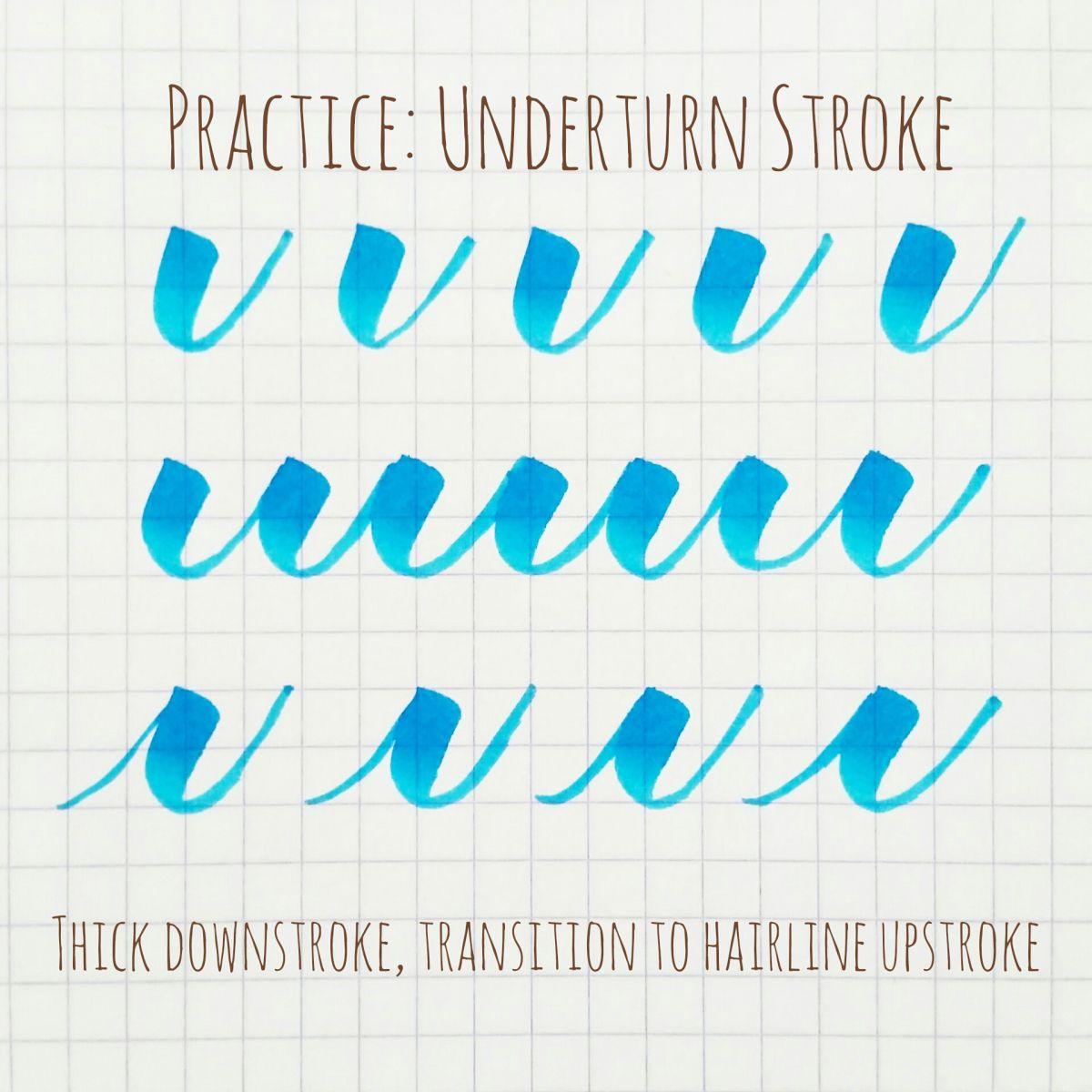 Basic Brush Calligraphy Strokes The Underturn Stroke