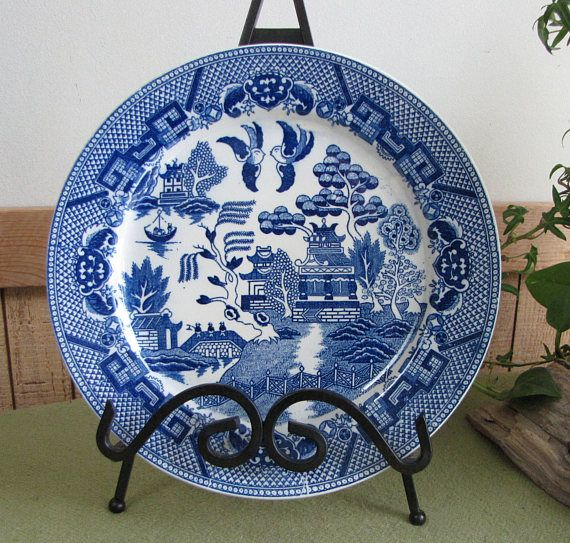 Japan Blue Willow Ware Plate Antique Decorative Plates Blue & Japan Blue Willow Ware Plate Antique Decorative Plates Blue ...