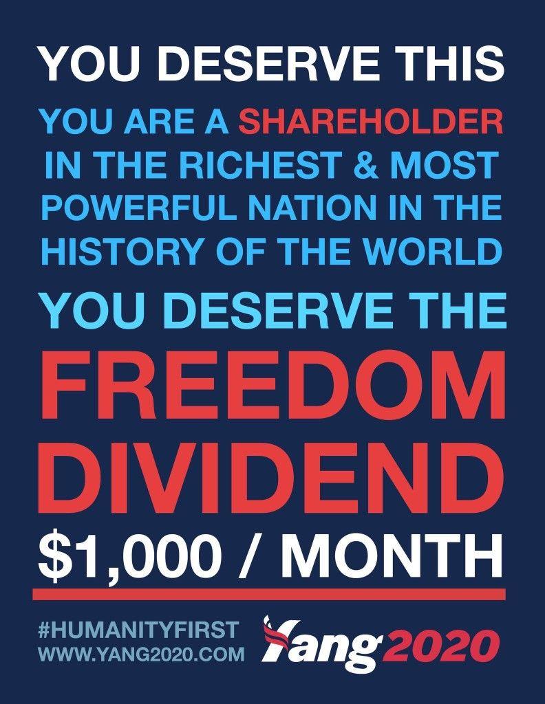 Yanggang Yang2020 Googleandrewyang Andrewyang Ubi Humanityfirst Yang2020 Universalbasicincome You Deserve World History Freedom