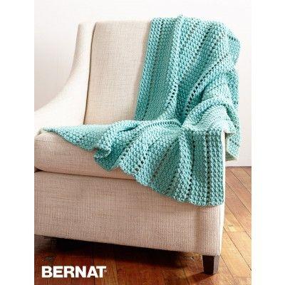 Free Easy Blanket Crochet Pattern| Bernat | Home Décor ...