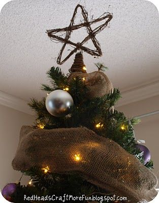 diy Christmas tree topper! Christmas Pinterest Rustic