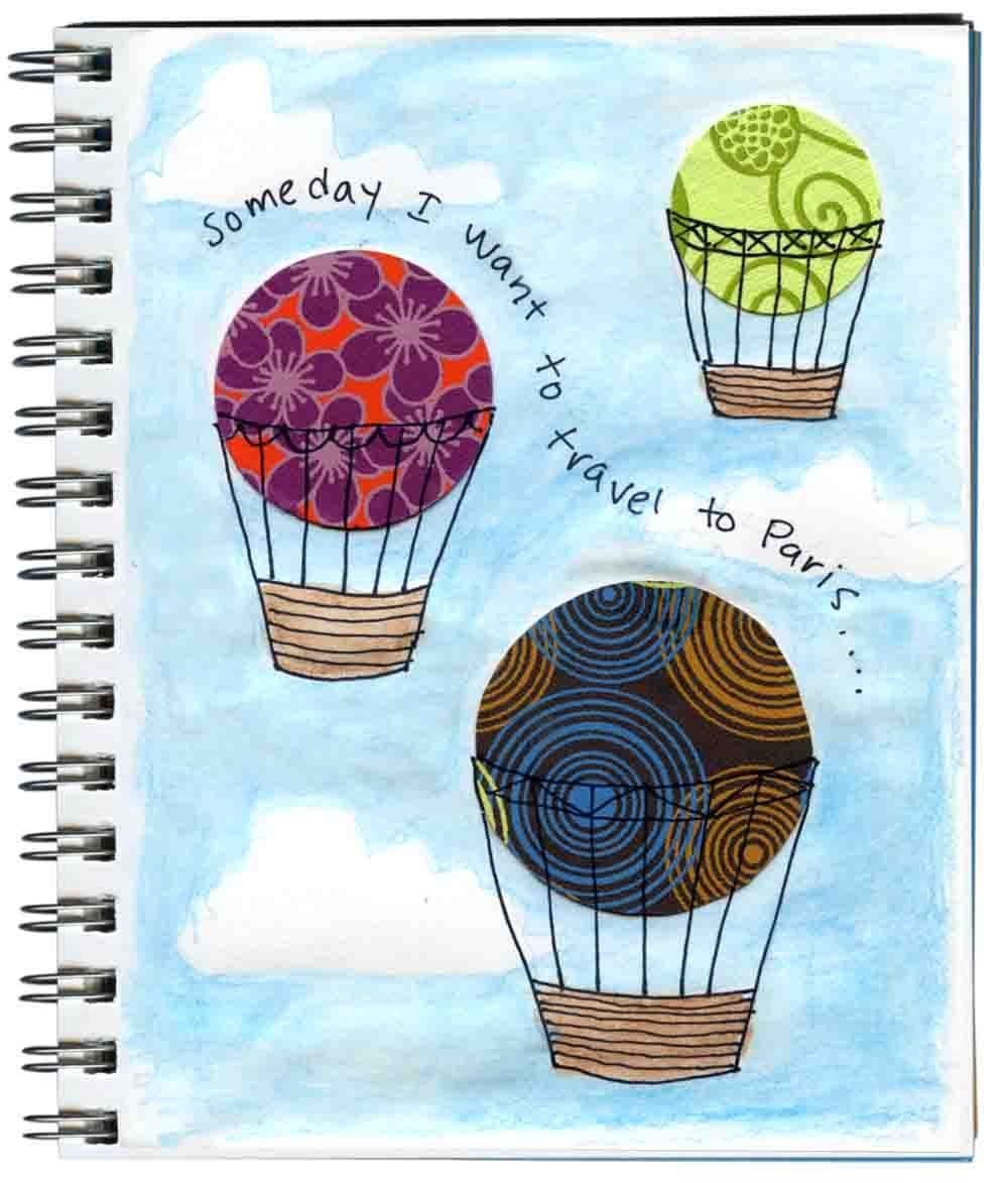 Art Projects For Kids Hot Air Balloon Art Journal Page Avec