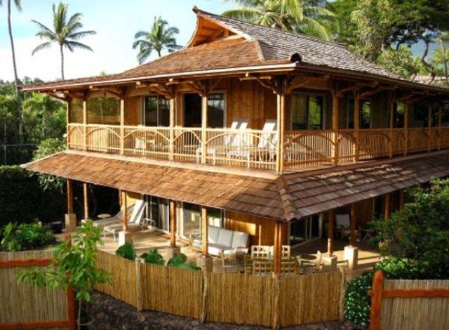 Construction of Bamboo House Design Beautiful Homes Design