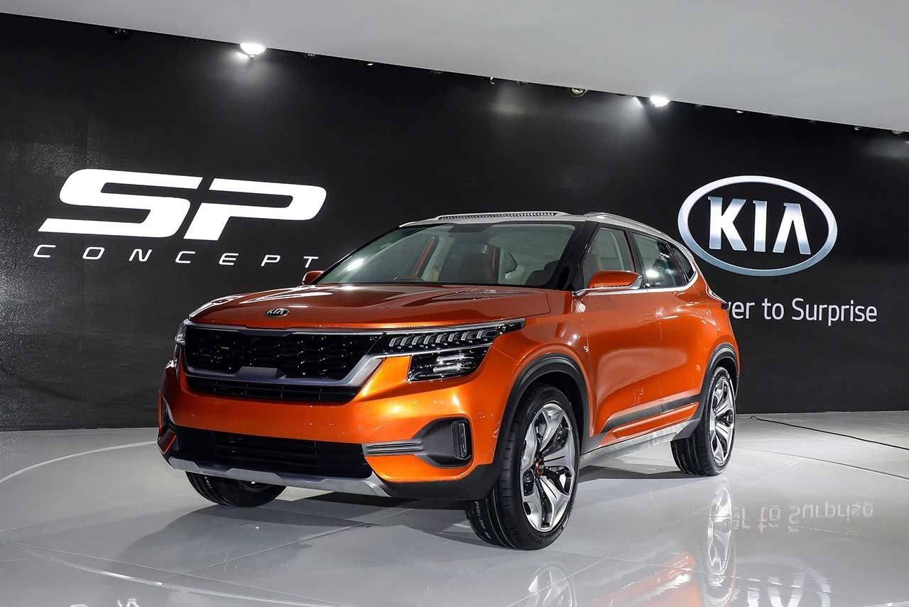 Kia Motors Has Unveiled The Striking New Sp Concept Suv Which Made Its Public World Premiere At Auto Expo 2018 Alongside A Sh Kia Kia Motors Best Family Cars