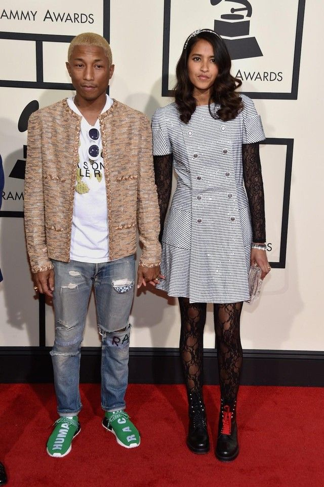 Pharrell Williams - On the red carpet at the 58th Annual Grammy Awards on  Looklive