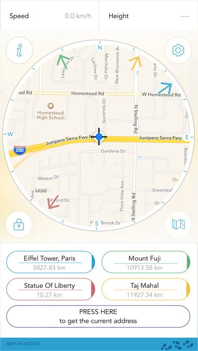 Direction Compass Maps in Motion Navigation Travel