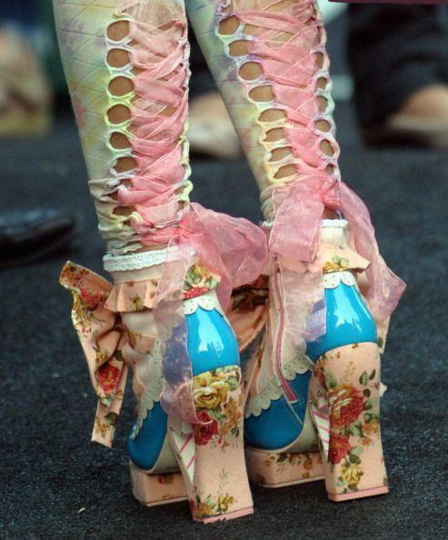 Betsey Johnson high heels florals